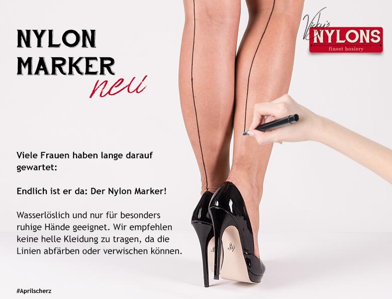 Aprilscherz: Nylon-Marker
