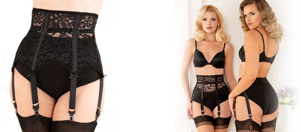 Neu: high waist suspenderbelt vickys nylons